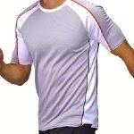camiseta para hombre fabricada con materiales 100% reciclados