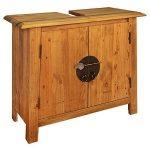 mueble de baño diseñado en madera reciclada de pino