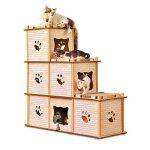 torre para gatos fabricada en cartón corrugado reciclado