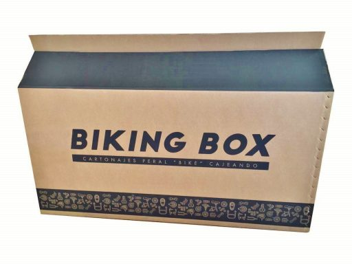 maleta de viaje portabicicletas en cartón reciclado